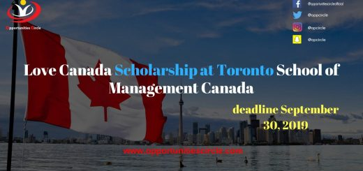Love Canada Scholarship at Toronto School of Management Canada