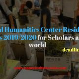 National Humanities Center Residential Fellowships 2019/2020 for Scholars around the world