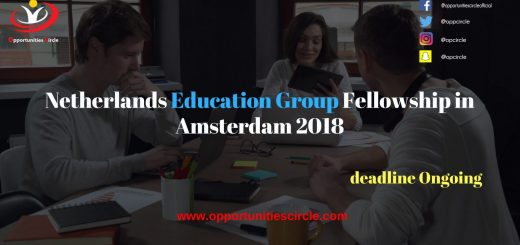 Netherlands Education Group Fellowship in Amsterdam 2018