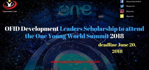 OFID Development Leaders Scholarship to attend the One Young World Summit 2018