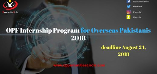 OPF Internship Program for Overseas Pakistanis 2018