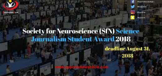 Science Journalism Student Award 2018
