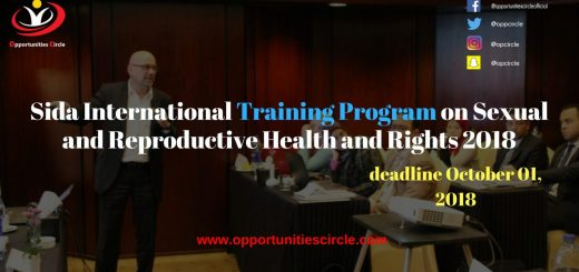 Sida International Training Program on Sexual and Reproductive Health and Rights 2018
