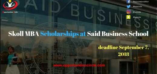 Skoll MBA Scholarships at Said Business School