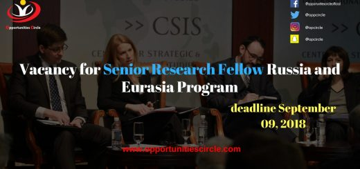 Vacancy for Senior Research Fellow Russia and Eurasia Program