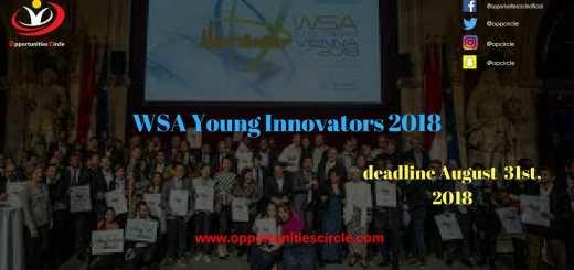 WSA Young Innovators 2018