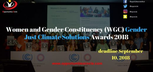 Women and Gender Constituency (WGC) Gender Just Climate Solutions Awards 2018