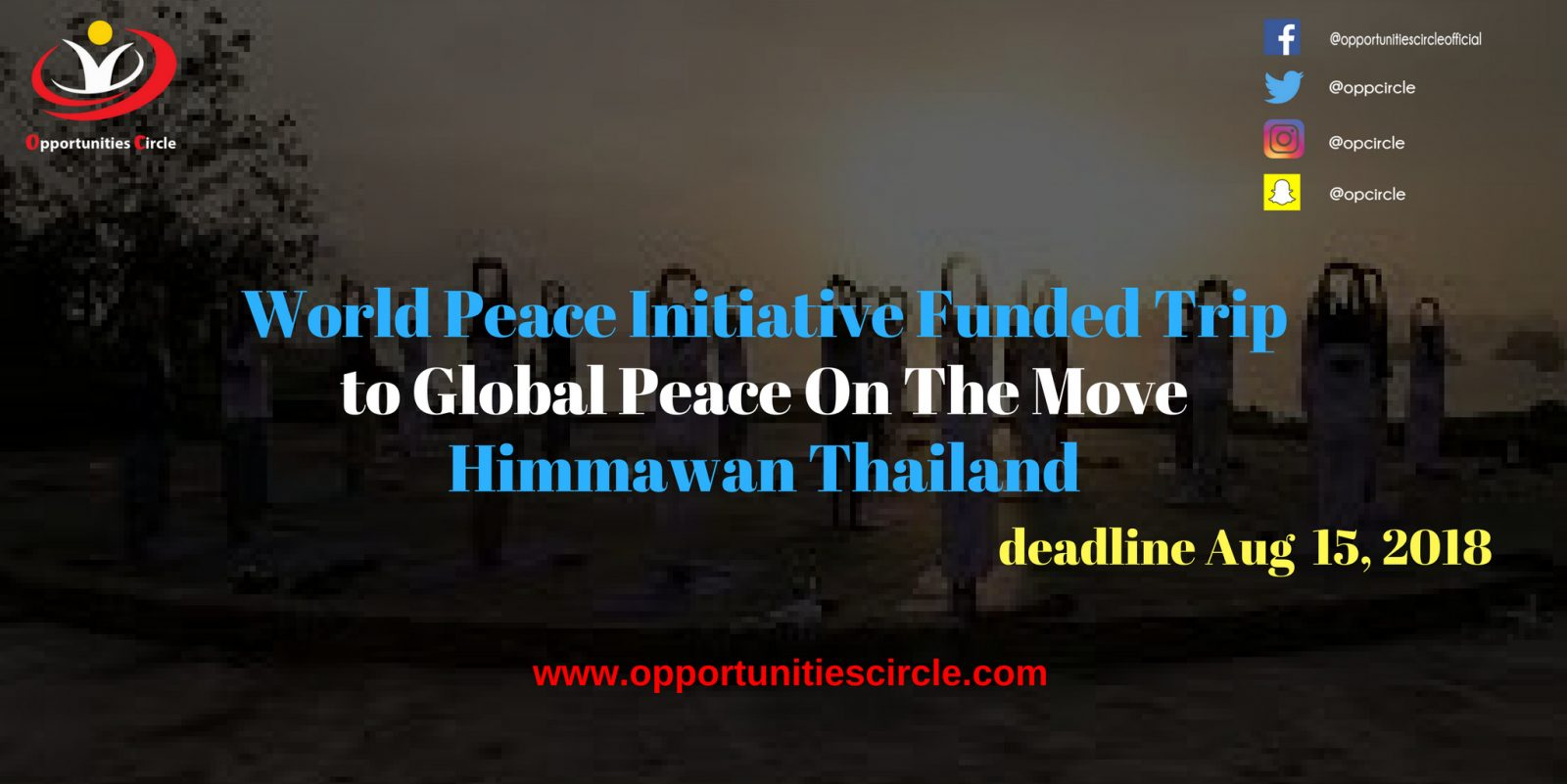 World Peace Initiative Funded Trip to Global Peace 1 - World Peace Initiative Funded Trip to Global Peace On The Move – Himmawan Thailand