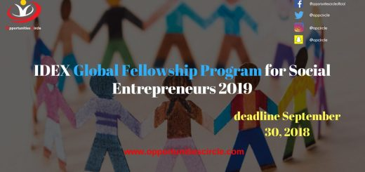 IDEX Global Fellowship Program for Social Entrepreneurs 2019