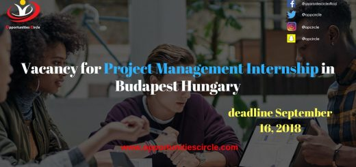 Vacancy for Project Management Internship in Budapest Hungary