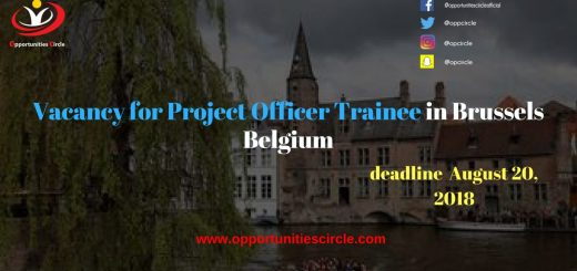 Vacancy for Project Officer Trainee in Brussels Belgium