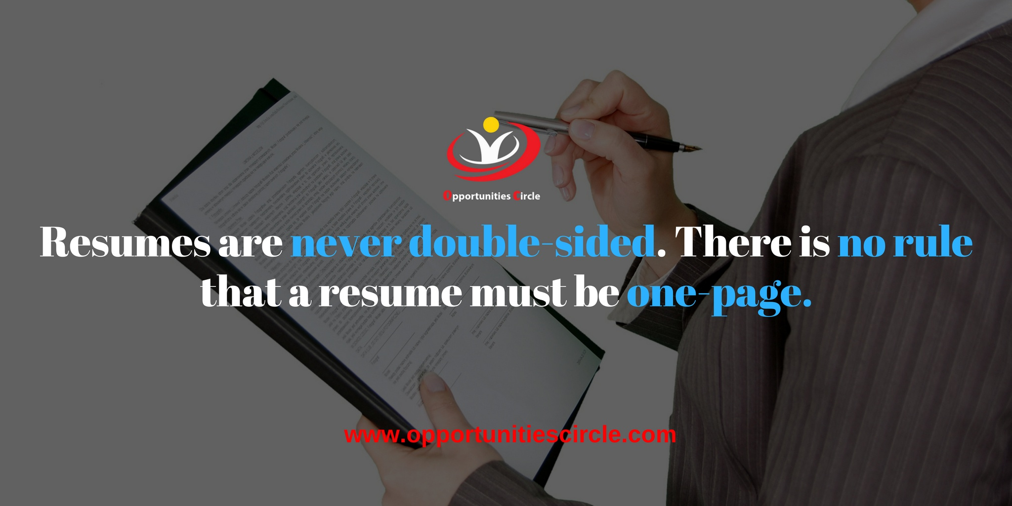 How long should a good resume be to secure a job? - Opportunities Circle