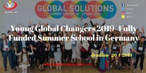 Young Global Changers 2019 Fully Funded Summer School in Germany - Opportunities Circle Scholarships, Fellowships, Internships, Jobs