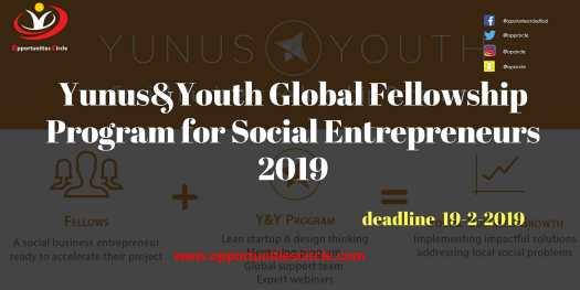 YunusYouth Global Fellowship Program for Social Entrepreneurs 2019 - Opportunities Circle Scholarships, Fellowships, Internships, Jobs