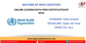 Online Courses By WHO (Free Certification)