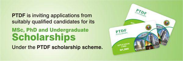 Postgraduate Scholarship Scheme Under PTDF