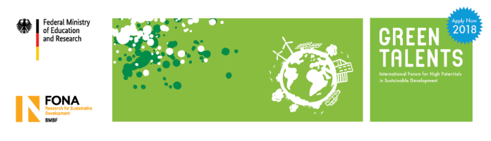 Green Talents 2018– International Forum for High Potentials in Sustainable Development (Fully Funded to Germany) 1