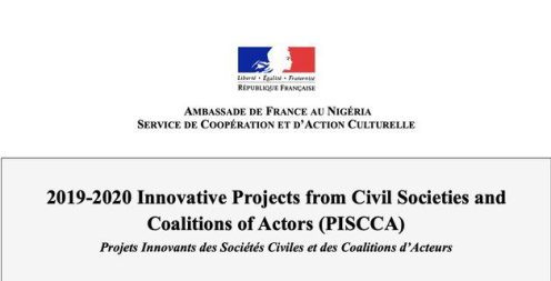 French Embassy Call for proposals 2020