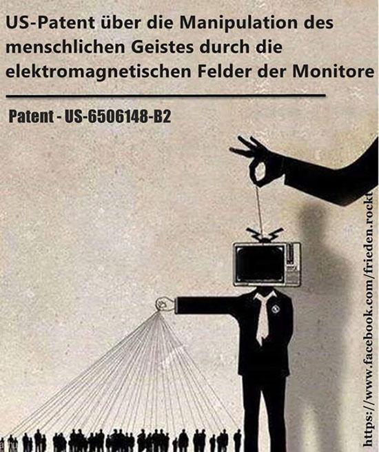 Manipulation des Nervensystems durch die elektromagnetischen Felder der Monitore