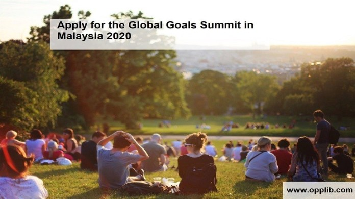 Apply for the Global Goals Summit in Malaysia 2020