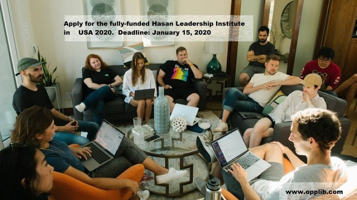 Apply for the fully-funded Hasan Leadership Institute in USA 2020.