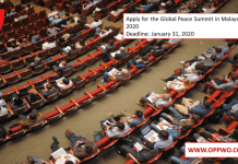 Apply for the Global Peace Summit in Malaysia 2020