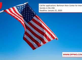 Call for applications: Berkman Klein Center for Internet & Society in the USA