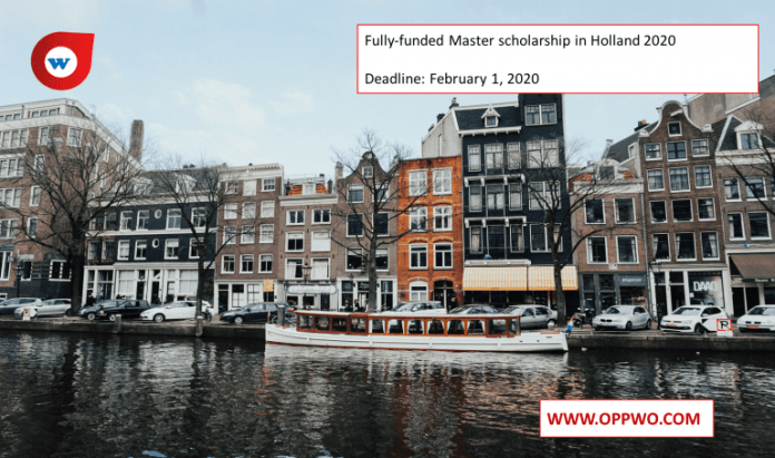Fully-funded Master scholarship in Holland 2020
