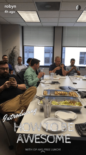 SanpChat Lunch and Learn OP
