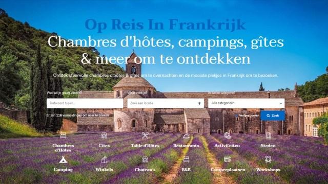 Nieuwe website Op Reis in Frankrijk gelanceerd