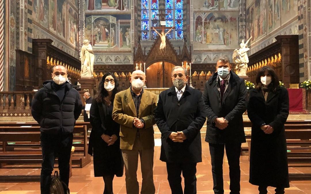 Il Prefetto Michele di Bari, capo dipartimento del Ministero dell'Interno, in visita ad Orvieto nel giorno della Messa del Crisma