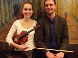 Het virtuoze Hongaarse duo Csilla Kovács (viool) en haar neef Gergely Kovács (piano)