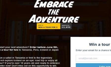 concorso tour radar embrace the adventure