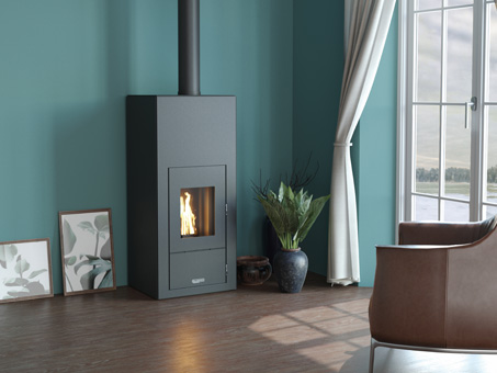 Poele A Granules Sans Electricite Fiore Sn 7 Kw Opteam Home