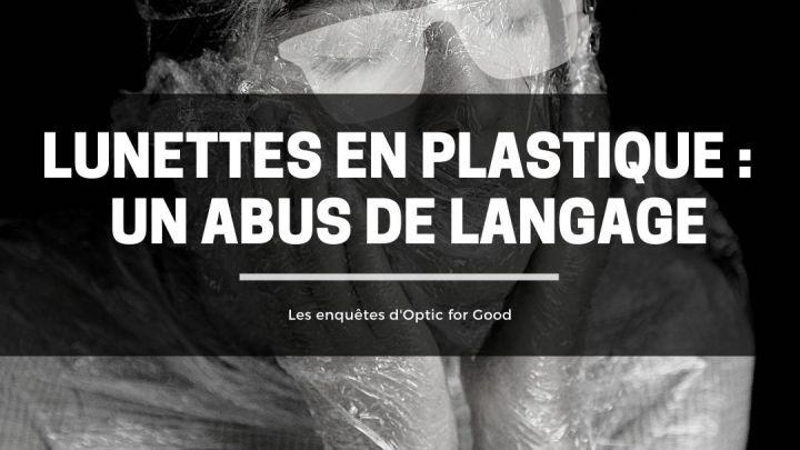lunettes en plastique