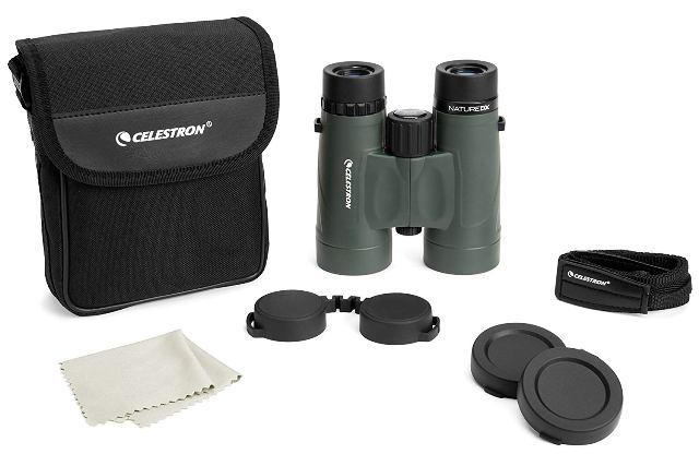 Celestron Nature Dx 8×42 with accessories