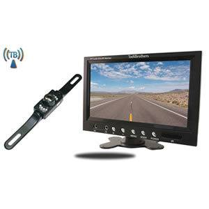 TadiBrothers 7 Inch Monitor with Wireless License Plate Backup Camera