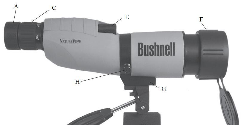 Spektivi Bushnell NatureView navodila za uporabo