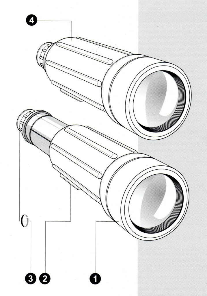 Spektiv Yukon Scout 20x50, 30x50, 30x50 WA navodila za uporabo