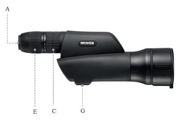 Spektivi Minox MD 60 Z, MD 60 ZR, MD 80 Z, MD 80 ZR navodila za uporabo