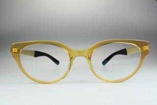 Foto einer gelben Brille