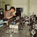 Andrew Sheinis working with a Zygo interferometer circa 1994