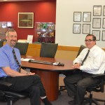 Peter de Groot with Steve Fantone at Optikos-hosted NES/OSA mtg., May, 2014