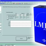 Screenshot of LMI plus instrument for measuring contact lens molds