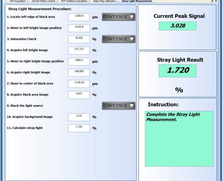 OpTest & for Stray Light Measurements