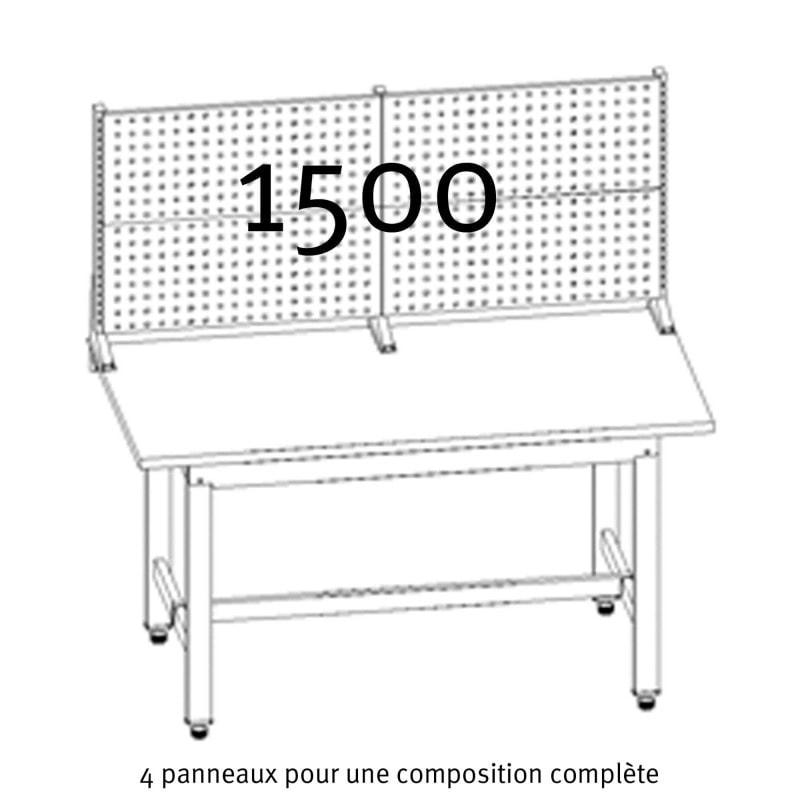 compostion complete des panneaux crantes uniworks pour etabli 1500 mm eepl2907