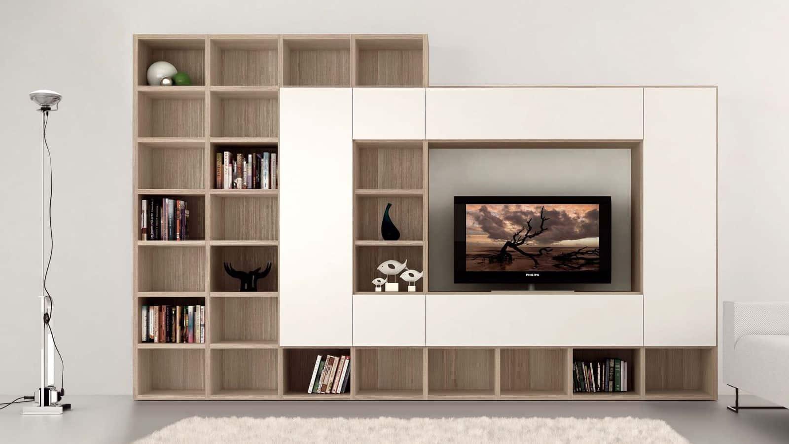 meuble tv bibliotheque salon