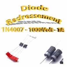 1N4007 - Diode de redressement,1000v, 1a
