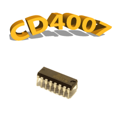 CD4007UBE - Inverseur, 3 V à 15 V, DIP-14, CD4007, 4007