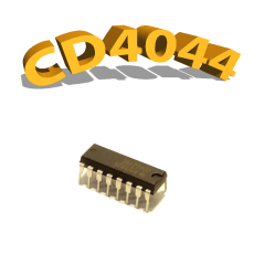 CD4044BE- Verrou, 3 V à 15 V, DIP-14, CD4044, 4044